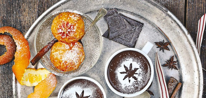 December 2015 - Cookery - Issue 246 - Chocolate Pots with Baked Clementines'