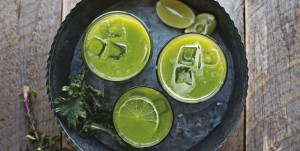 February 2016 - Cookery - Issue 248 - Avocado, Cucumber, Spinach, Kale, Pineapple and Coconut Juice