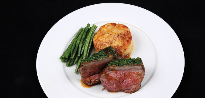 January 2016 - Cookery - Issue 247 - Roast Rump of Lamb a la Dijonnaise with Potatoes Dauphinoise