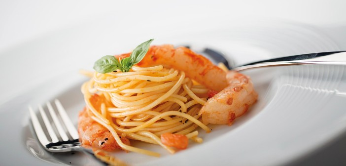 May 2016 - Cookery - Rinuccini's Spaghetti con Gamberoni - Issue 251