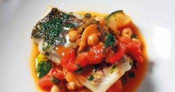 June 2016 - Cookery - Fillet of Cod with Chickpeas, Red Pepper and Tomato - Issue 252