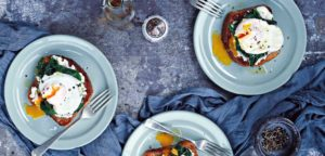 July 2016 - Cookery - Poached Eggs, Goat's Cheese & Spinach on Toast - Issue 253