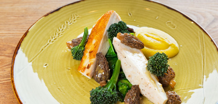 August 2016 - Cookery - Chicken Breast with Sweetcorn Purée and Mushroom Maderia Sauce - Issue 254