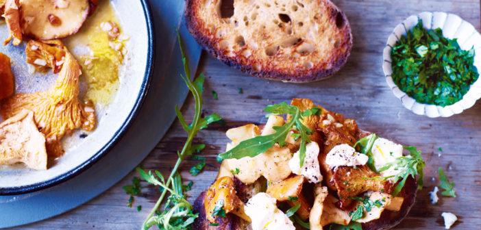 October 2016 - Cookery - Wild Mushroom and Irish Ricotta Bruschetta - Issue 256