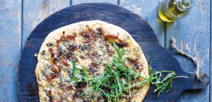 October 2016 - Cookery - Cashel Blue, Caramelised Onion and Thyme Pizzas - Issue 256
