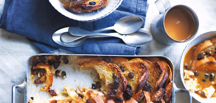 October 2016 - Cookery - Salted Caramel Whiskey Bread and Butter Pudding with Raisins - Issue 256