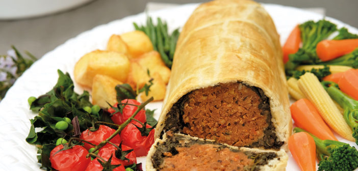 December 2016 - Cookery - Chestnut and Butter Bean Wellington