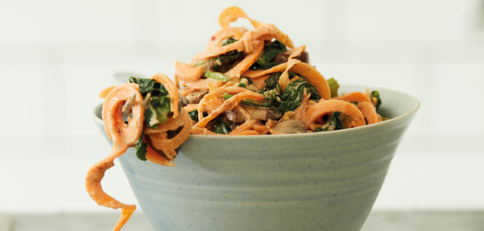 Cookery - Sweet Potato Noodles With a Creamy Peanut Satay Sauce - Issue 261