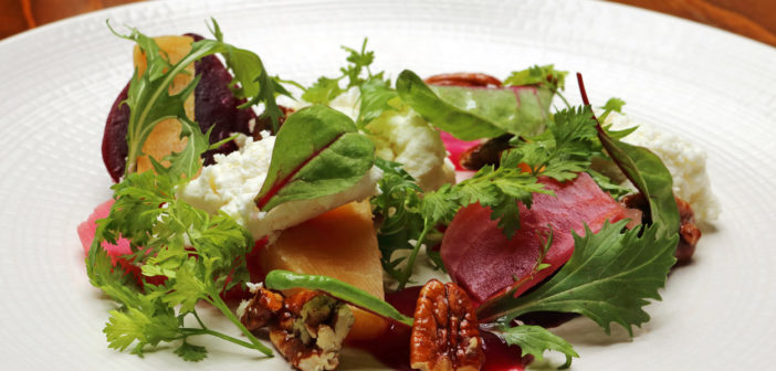 May 2017 - Cookery - Goat's Cheese, Beetroot Relish & Pecan Salad - Issue 263