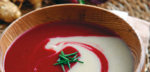 September 2017 - Cookery - Duo of Soups - Beetroot and Jerusalem Artichoke with Bacon - Issue 267