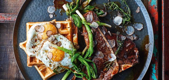 Cookery - T-Bone Steak & Potato Waffles - Issue 274