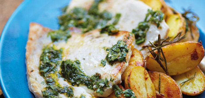 March 2019 - Cookery - Swordfish Steaks and Sautéed Potatoes with Gremolata - Issue 285