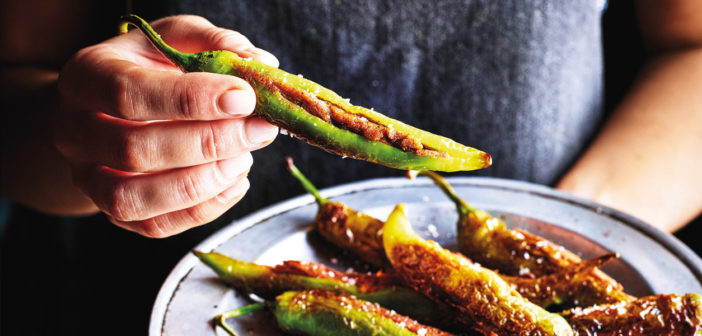May 2019 - Cookery - Spicy Stuffed Green Chillies - Issue 287