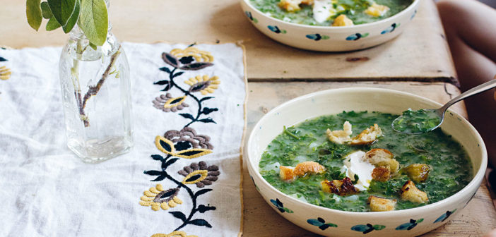 June 2019 - Cookery - Parsley soup with garlic butter croutons - Issue 288