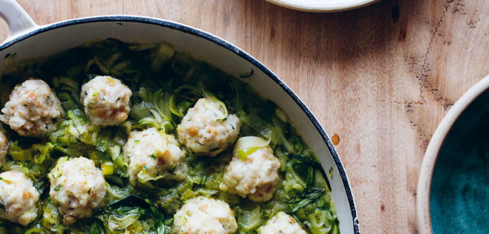 June 2019 - Cookery - White fish dumplings with courgette and tarragon stew - Issue 288
