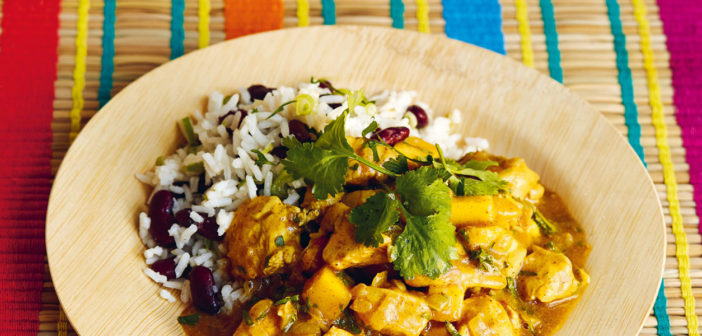 August 2019 - Cookery - Caribbean Chicken Curry with Rice and Peas - Issue 290