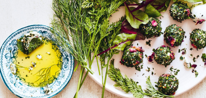 November 2019 - Cookery - Herb Labneh with Leaves - Issue 293