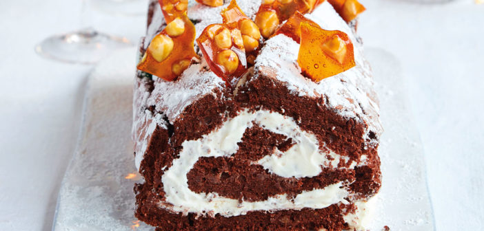 Cookbooks - December 2019 - Issue 294 Mary Berry - Chocolate and hazelnut boozy roulade
