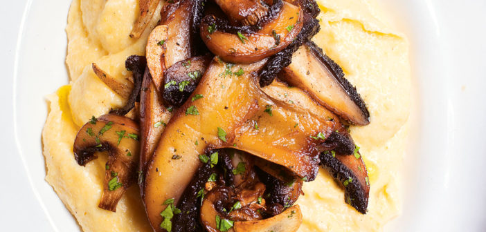 Cookbooks - December 2019 - Issue 294 Nigel Slater - Polenta, garlic, mushrooms
