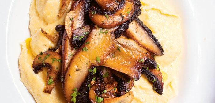 Cookbooks - December 2019 - Issue 294 Nigel Slater - Polenta, garlic, mushrooms