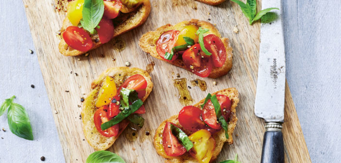 July/August 2020 - Cookery - Cherry Tomato Bruschetta - Issue 300