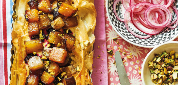 September 2020 - Cookery - Heritage Beetroot Tart & Feta Slice - Issue 301