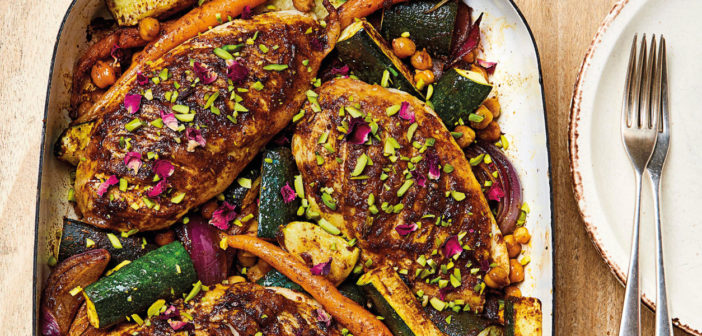 October 2020 - Cookery - Moroccan Chicken Traybake - Issue 302