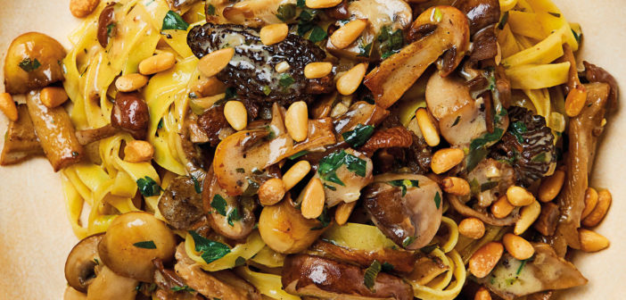 October 2020 - Cookery - Porcini Tagliatelle with Pine Nuts - Issue 302