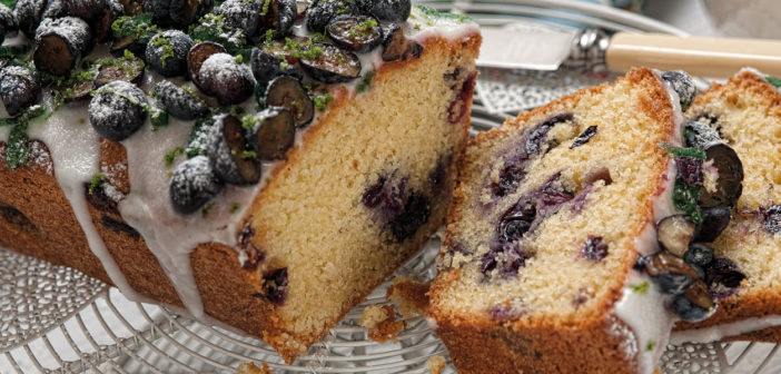 Blueberry Madeira Cake with Lime