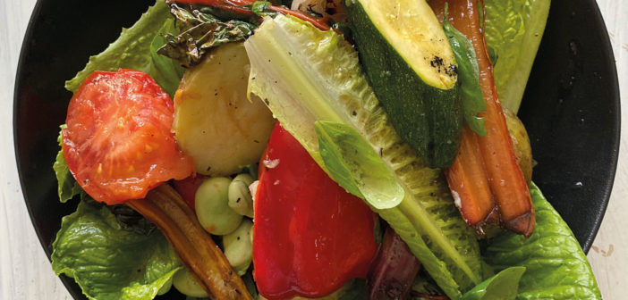 Grilled Mediterranean Vegetable Salad