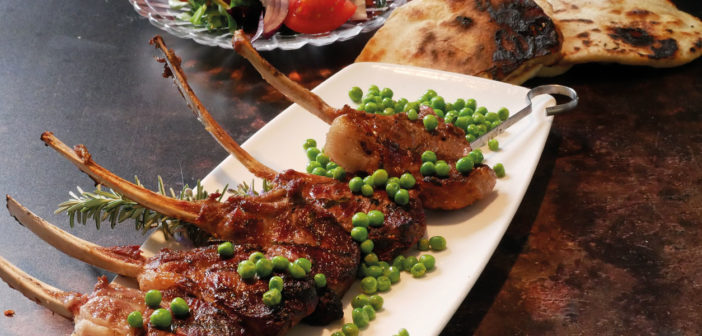 Lamb Cutlets Kebab with Garlic Butter Flatbreads