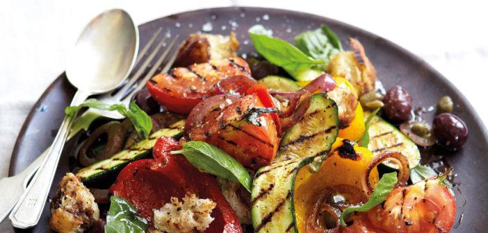 Grilled Summer Veg Panzanella Salad