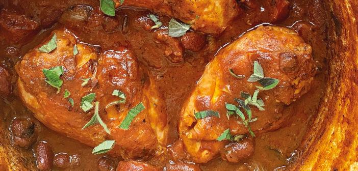 Chicken and Chorizo Bean Stew