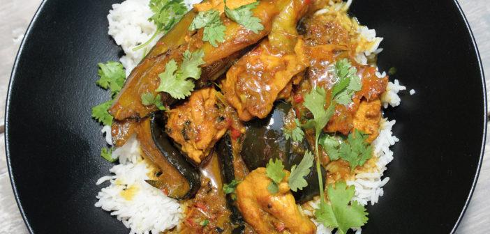 Aubergine and Chicken Balti Curry