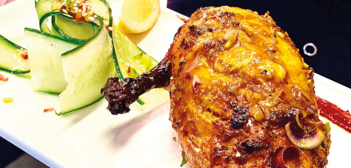 Tandoori Chicken Breast with Shaved Cucumber & Sesame Salad